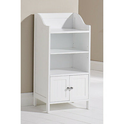 bathroom side cabinet white wood storage free standing shelving unit