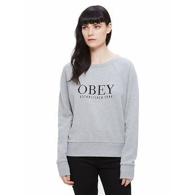 Sweat Obey Vanity femme heather grey