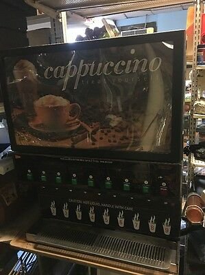 Cecilware CAPPUCCINO HOT CHOCOLATE COFFEE 8 Head DISPENSER MACHINE