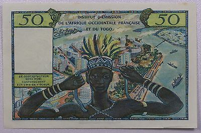 French West Africa P45 50 Francs (1956) {DO469}