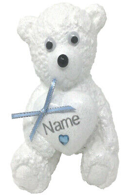 Personalised Grave Ornament Memorial Baby Teddy Bear Garden Graveyard Tribute