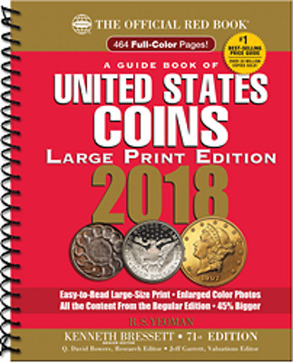 PRE-SALE 2018 Red Book Price Guide, 71st Edition, Large Print