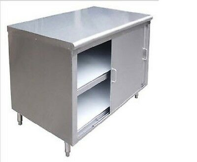 Commercial Stainless Steel Storage Dish Cabinet with Doors 14x48 - NSF
