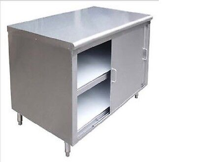 Commercial Stainless Steel Storage Dish Cabinet with Doors 14x72 - NSF