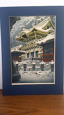 "WOODBLOCK ANTIQUE SHIRO KASAMATSU 9.5"" X 14,5"" Pencil SIGNED & STAMPED"