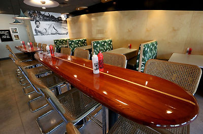 Delicieux Wood Surfboard Bar Top Table