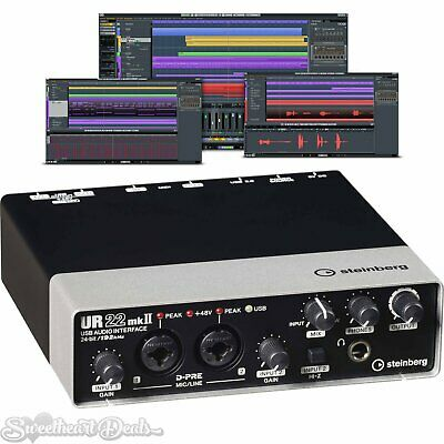 Steinberg UR22mkII USB Audio Recording Interface for MAC PC iOS UR22