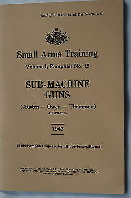 WW2 Australian Small Arms Training Pamphlet No 15 COPY Reference Book