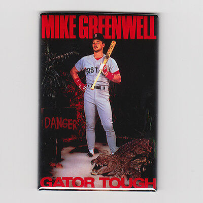 """MIKE GREENWELL GATOR TOUGH  2""""x3"""" POSTER FRIDGE MAGNET costacos nike mlb red sox"""