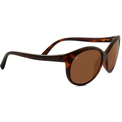 Serengeti Caterina Sunglasses (Shiny Dark Tortoise Frame Polarized Driver Lens)