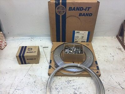 """Band-It BAND-IT VALU-STRAP Band  C403 Stainless Steel, 3/8"""" wide"""