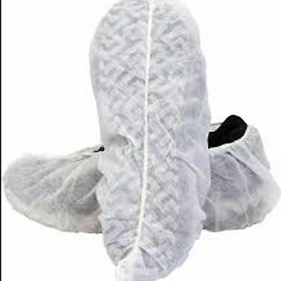 100 Disposable Shoe Covers Non-Skid/ Real Estate/ Sized For Women - White