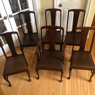 (Vintage) T-Back Dining Chairs (Set of 6)