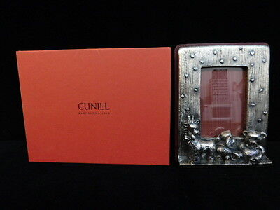 Cunill Orfebres Sterling Silver Baby Picture Frame Giraffe Bunny Bear New Box