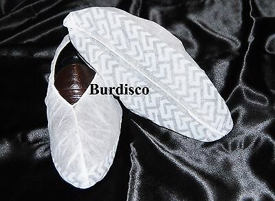 200 Disposable Shoe Covers Non-Skid/ Real Estate/ Size Medium- White