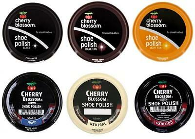 Cherry Blossom Traditional Shoe Polish Paste 50ml - Smooth Leathers - 6 Colours