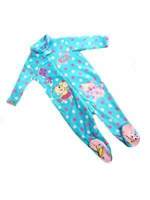 Ex Dunnes Baby Girls Aqua Animal Friend Sleep All in one Age 6-12 18-23 Mth SALE