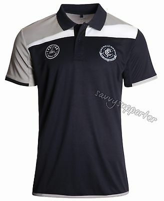 Carlton Blues 2017 AFL Mens Premium Polo Shirt 'Select Size' S-5XL BNWT