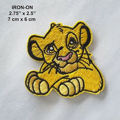 Lion Cub Iron-on Embroidered Emblem Pet Badge Patch Cute Wild Animal Applique