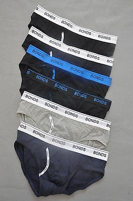 6x BONDS Mens Guyfront Brief, Trunk,Underwear, Boxer, ,  Cotton Stretch