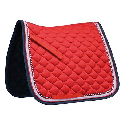 *REDUCED* Waldhausen ROM Saddle Pad- Red/Night Blue- Dressage Cut
