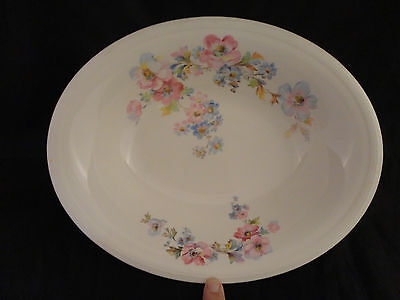 VINTAGE EDWIN M KNOWLES CHINA CO OVAL SERVING BOWL Made In The USA 44-6