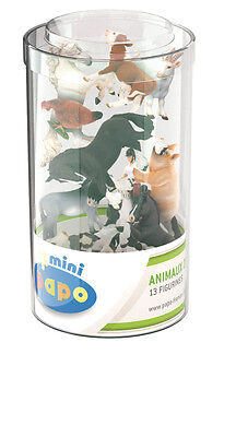 Papo 12 Farm Animals Figures Mini Tub