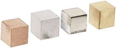 Ajax Scientific 4 Piece Cube Density Metal Set 10 millimeters Sized