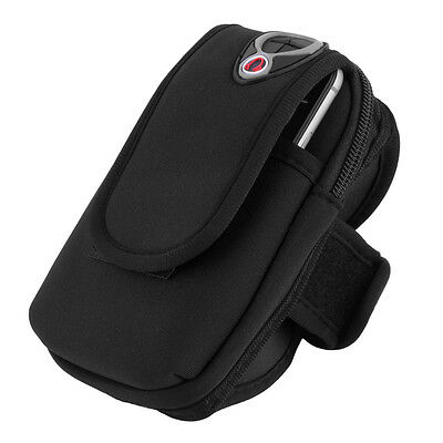 Waterproof Sport Arm Band Holder Pouch Case Earphone Hole For 5.5 Cellphone AU