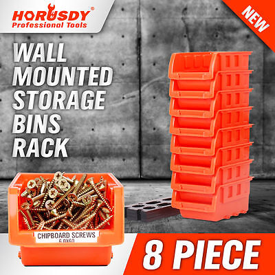 Wall Mounted Bins Rack Storage Parts Organiser Bin Boxes Workshop Tool Solution
