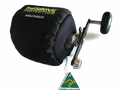 Overhead Fishing Reel Cover Medium Size - breathable Material -Made in Australia