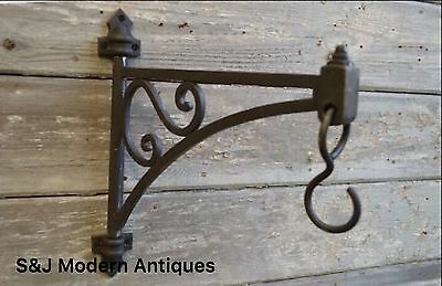 Hanging Basket Bracket Cast Iron Lantern Pivot Hook Victorian Antique Vintage