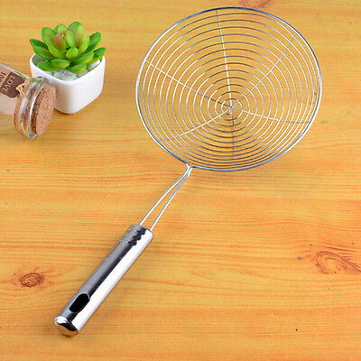 1 x Stainless Steel Long Handle Mesh Hollow Net Strainer Ladle For Kitchen