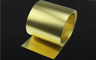 H59 Yellow Copper Foil/Sheet Brass Metal Plate Metalworking 0.1mm*100mm*1000mm