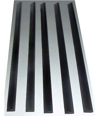 5 x A4 Slide Binders/Spine Bars 5mm x 297mm Black for Home, Office & Schools .