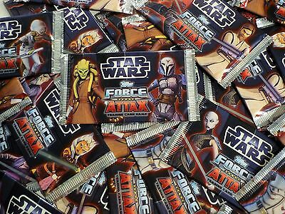 TOPPS Force Attax CLONE WARS - Serie 3 - 10 Booster, Tüten, 50 Karten STAR WARS