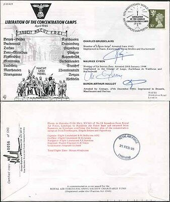 JS45/9 Liberation of Concentration Camps sign by 3 Brusselairs Eyben & Haulot