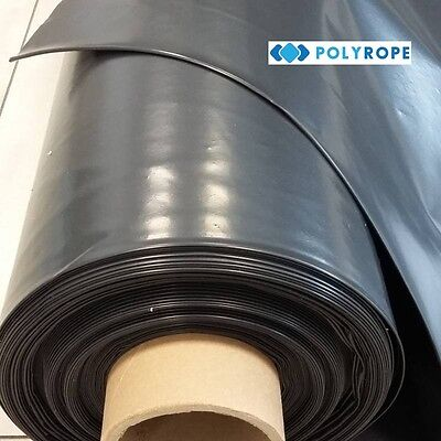 Black 300mu 1200G strong Polythene Damp proof membrane for concrete floor Roll