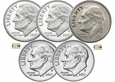 2017 P,D,S Roosevelt Dimes Update Set All 3 In Sale In Stock