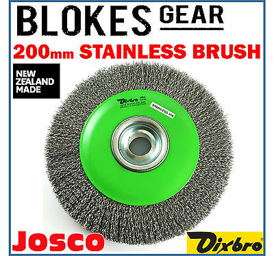 Josco Dixbro Wire Wheel Brush Stainless Steel 200mm for Bench Grinder MADE IN NZ