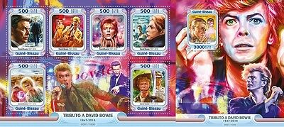 Z08 Imperforated GB16010ab GUINEA-BISSAU 2016 David Bowie MNH Set