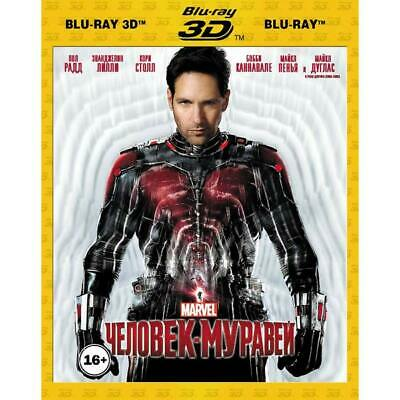 *NEW* Ant-Man (Blu-ray 3D+2D, 2015) Eng,Russian,Spanish