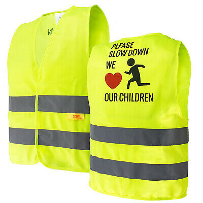 Kids Safety Vest Security Hi-Visibility Reflective Vest Running,Lime -KIDS777S