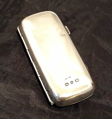 Genuine Vintage Hallmarked Silver Cigarette Case 1901 By WH Leather Birmingham