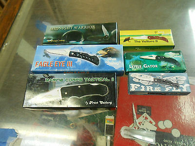 Lot of 6 Pocket Knives New In Box