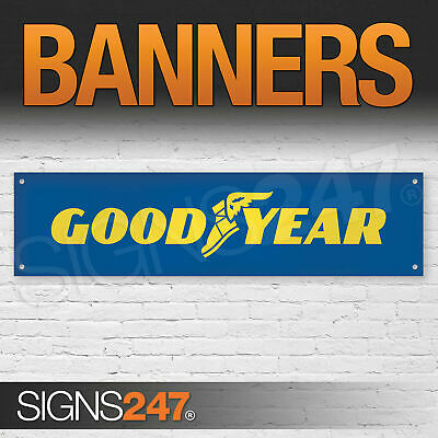 Goodyear Tyres Logo garage workshop PVC banner sign (ZA057)