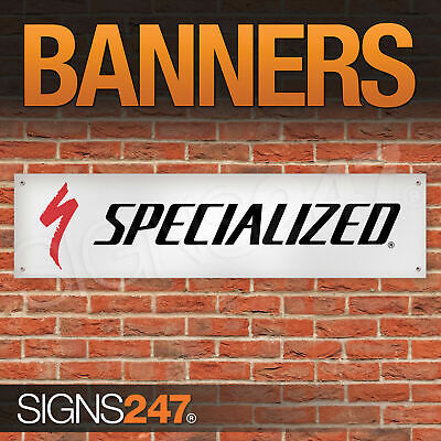 Specialized Bicycle Components garage workshop PVC banner sign (ZA121)