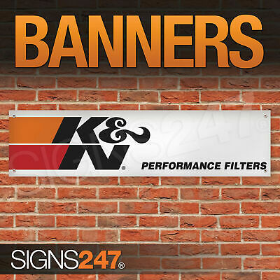 K and N Performance Filters Logo garage workshop PVC banner sign (ZA143)