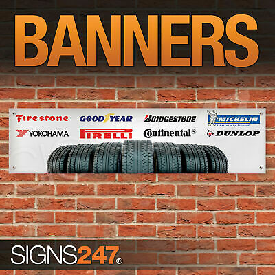 Tyre Logos garage workshop PVC banner sign (ZA003)