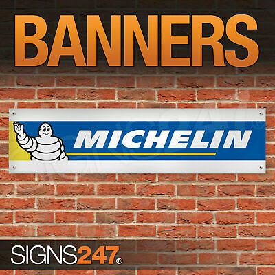Michelin Tyres Logo Michelin Man garage workshop PVC banner sign (ZA056)